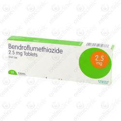 Bendroflumethiazide 2.5mg x 84